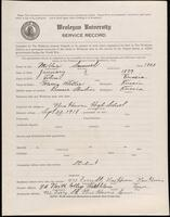 02.007.051 World War I service record for Samuel Miller