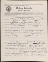 02.007.052 World War I service record for Robert Denniston Miluer