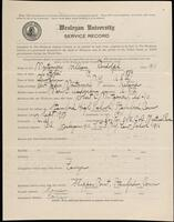 02.007.053 World War I service record for William Randolph Montgomery