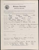 02.007.055 World War I service record for George Lankton Moore