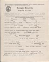 01.002.020 World War I service record for Harry William Bell