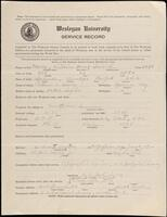 02.007.057 World War I service record for William Henry Seward Morey