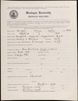 02.007.058 World War I service record for George Curtis Morgan