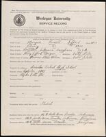 02.007.059 World War I service record for Russell Seffard Morgan