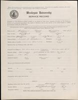02.007.062 World War I service record for Frank Willard Morrell