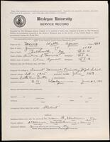 02.007.063 World War I service record for Walter Agnew Morris