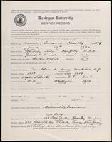 02.007.064 World War I service record for Lawrence Beatty Morse