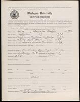 02.007.065 World War I service record for Malcolm Wilbur Moss