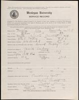 02.007.069 World War I service record for John Desmond Murphy