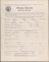 World War I service record for Russell Dudley Bell, p. 1
