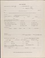 World War I service record for Russell Dudley Bell, p. 2