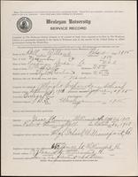 World War I service record for Willard Robert Bell, p. 1