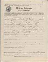 02.010.001 World War I service record for Harold Metcalf Paine