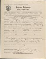 01.002.024 World War I service record for Howard Warren Benedict
