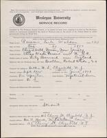 02.010.007 World War I service record for Earle Waldon Parsons