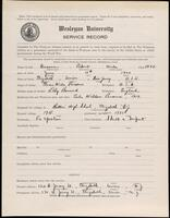 02.010.009 World War I service record for Robert Wade Parsons