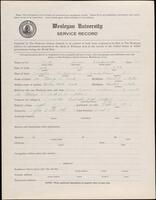 02.010.018 World War I service record for James Knickerbocker Peck (second questionnaire)