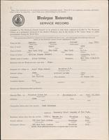 01.002.025 World War I service record for Sanford Tiffany Bennett