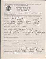 02.010.025 World War I service record for Peter A. Pfeiffer