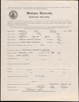 World War I service record for Ivan Maurice Perkins, p. 1