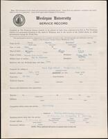 World War I service record for Warren Moncrief Perry, p. 1