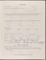 World War I service record for Peter A. Pfeiffer, p. 3