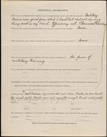World War I service record for Peter A. Pfeiffer, p. 4
