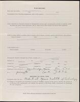 World War I service record for Carl Wright Phelps, p. 3
