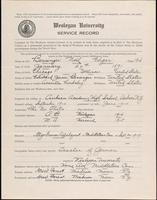 World War I service record for Noel Edgar Bensinger, p. 1