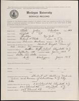 02.010.031 World War I service record for John Theodore Plate