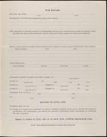 World War I service record for Ames Scribner Albro, p. 3