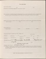 World War I service record for Noel Edgar Bensinger, p. 3