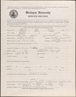 02.010.034 World War I service record for John Halifax Plumb (second questionnaire)