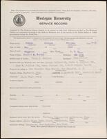 02.010.036 World War I service record for Charles Pullman Porter