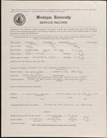 World War I service record for Raymond Thornton Potter, p. 1