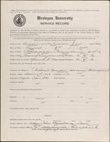 01.002.028 World War I service record for Fredrick Jacob Bergmand