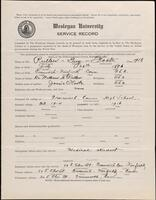 World War I service record for Guy Foote Pullew, p. 1