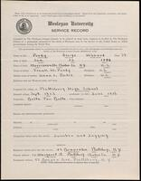 World War I service record for George Hibbard Purdy, p. 1