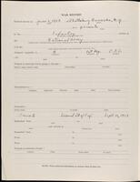 World War I service record for Frank William Putnam, p. 2