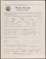World War I service record for Samuel Powell, p. 1