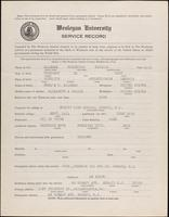 01.001.011 World War I service record for Frederick Raymond Alleman