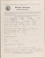01.002.030 World War I service record for Clifton Harold Berlinghof