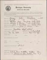 01.002.032 World War I Service Record for John Beardmore Berrier