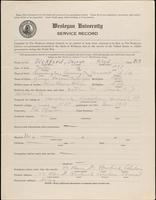 01.002.033 World War I Service Record for George Floyd Bickford