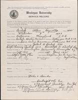 World War I Service Record for Allen Reynolds Bishop, p. 1