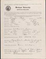 01.002.035 World War I Service Record for Charles Billington