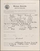 01.003.008 World War I Service Record for Robert Driscoll Boyle
