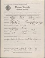 01.001.012 World War I service record for Cecil Albro Allen