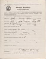 01.002.039 World War I Service Record for Benjamin Hezekiah Bissell