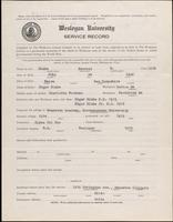 World War I Service Record for Everett B. Blake, p. 1